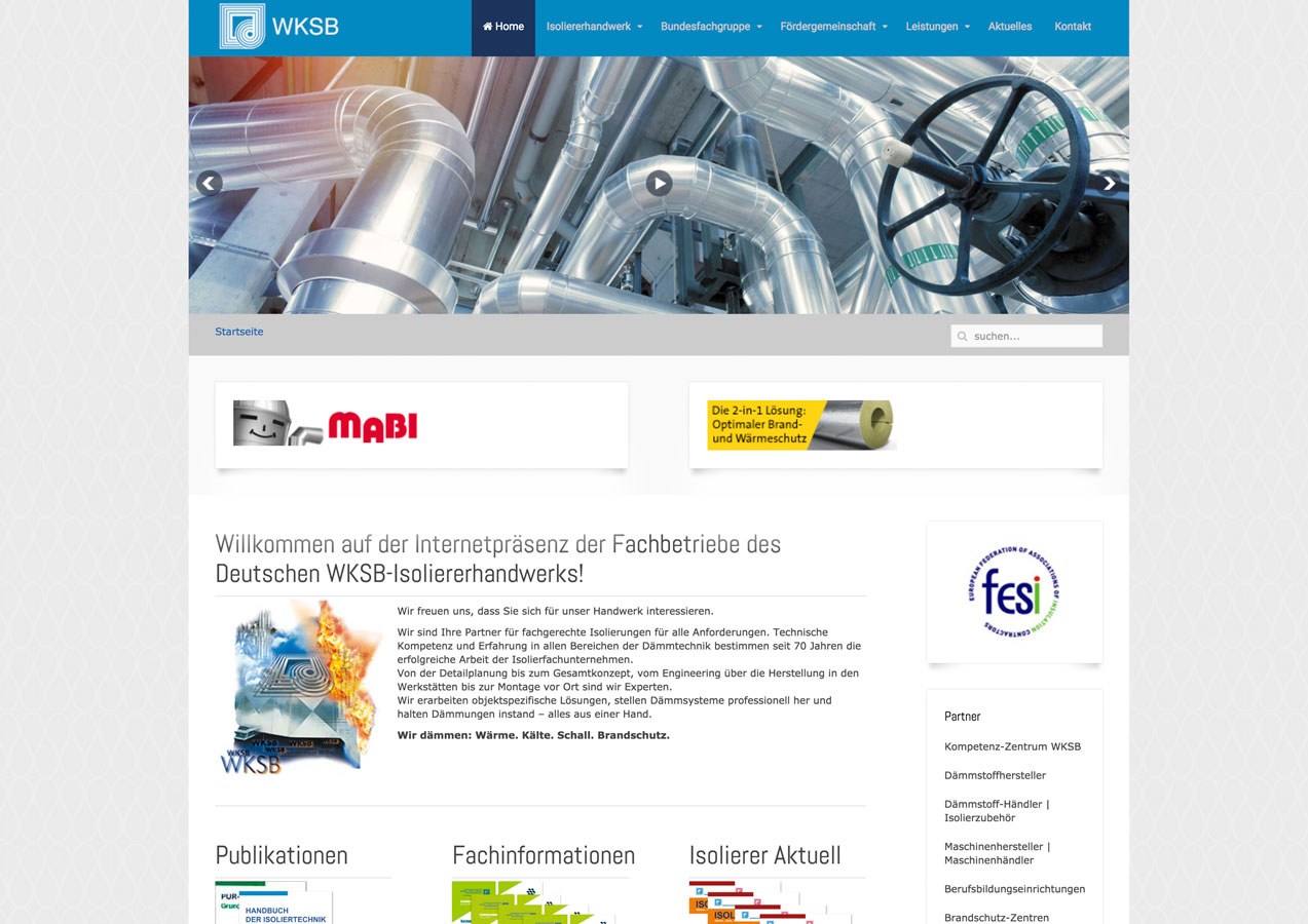 Website Isoliertechnik | WKSB-Isolierer