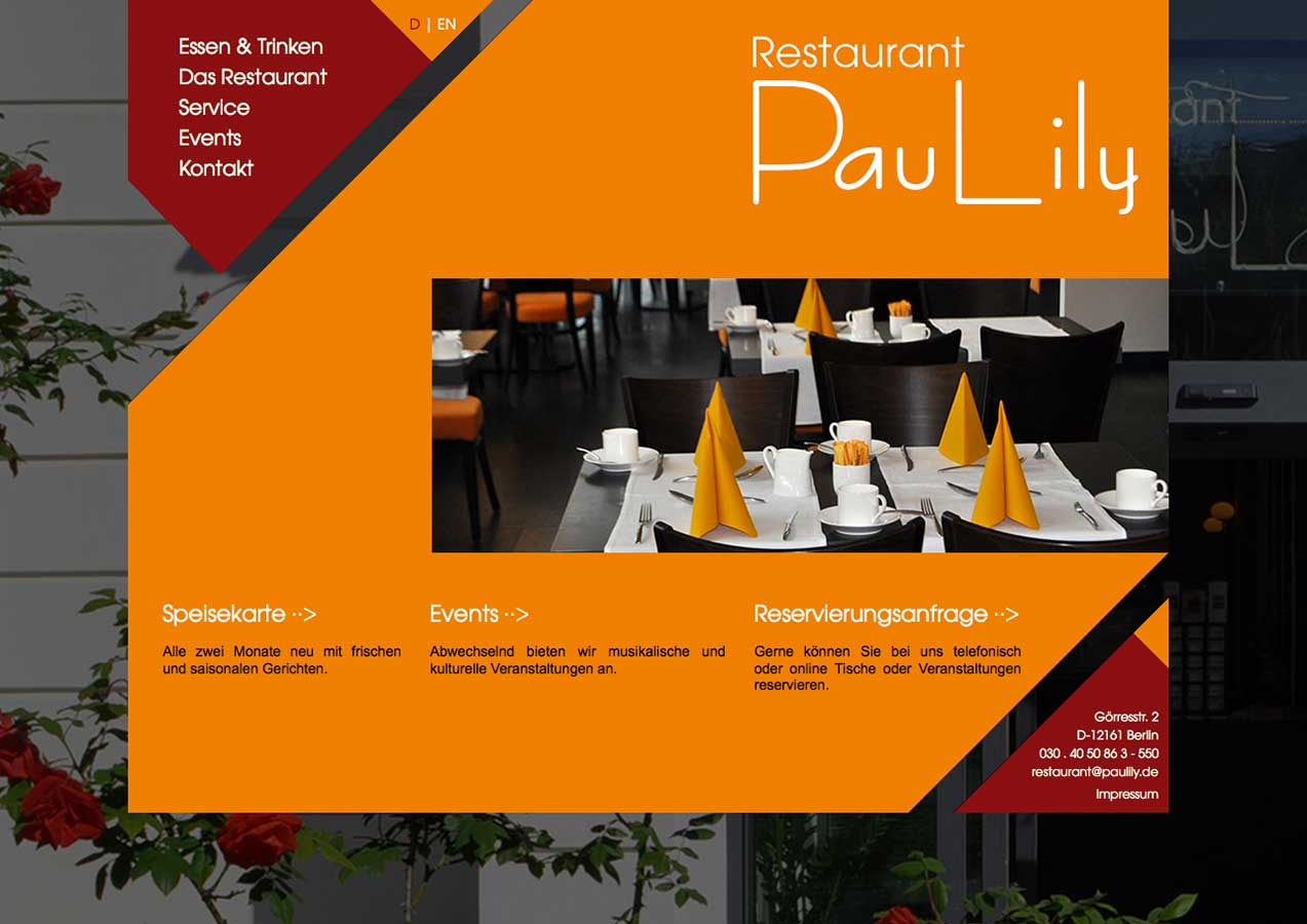 Website Restaurant PauLily